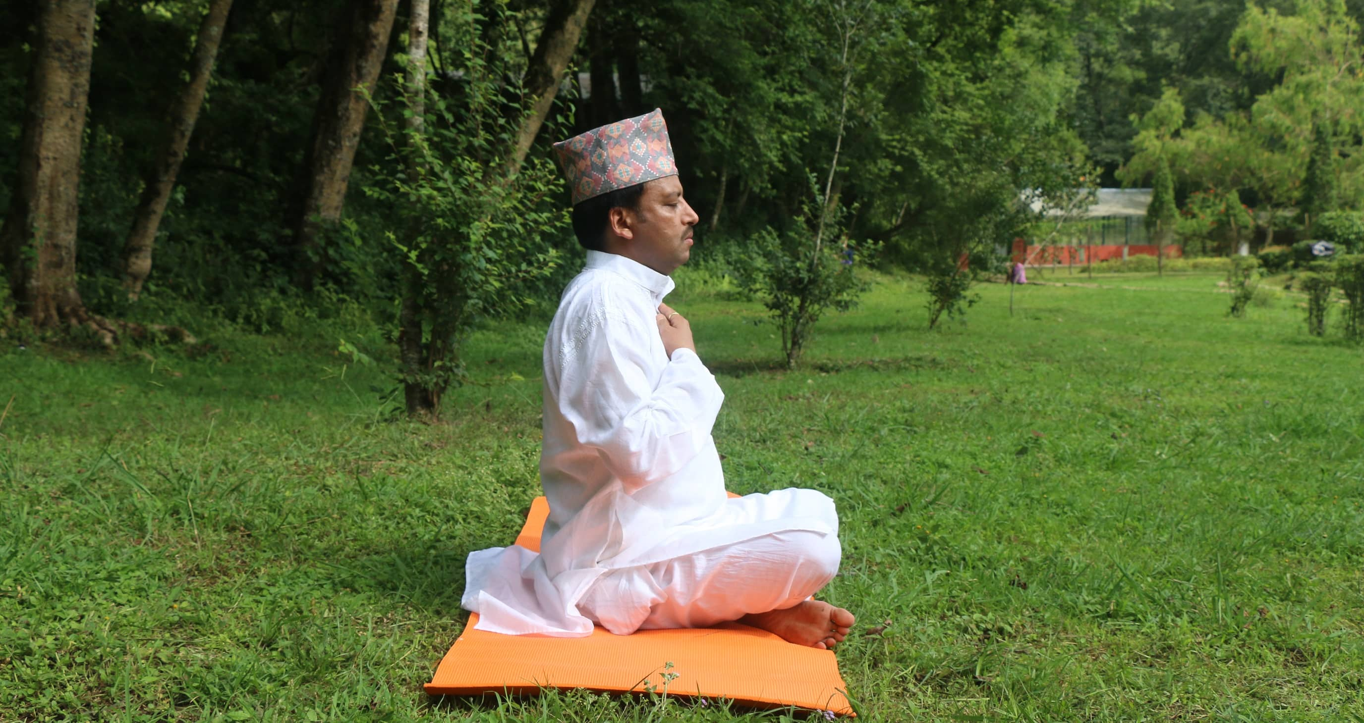 Founder and Yoga Teacher Dr. Bal Krishna