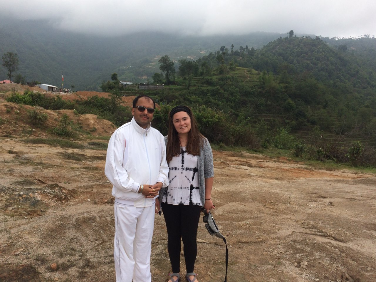 Guru and student pic during yoga trek
