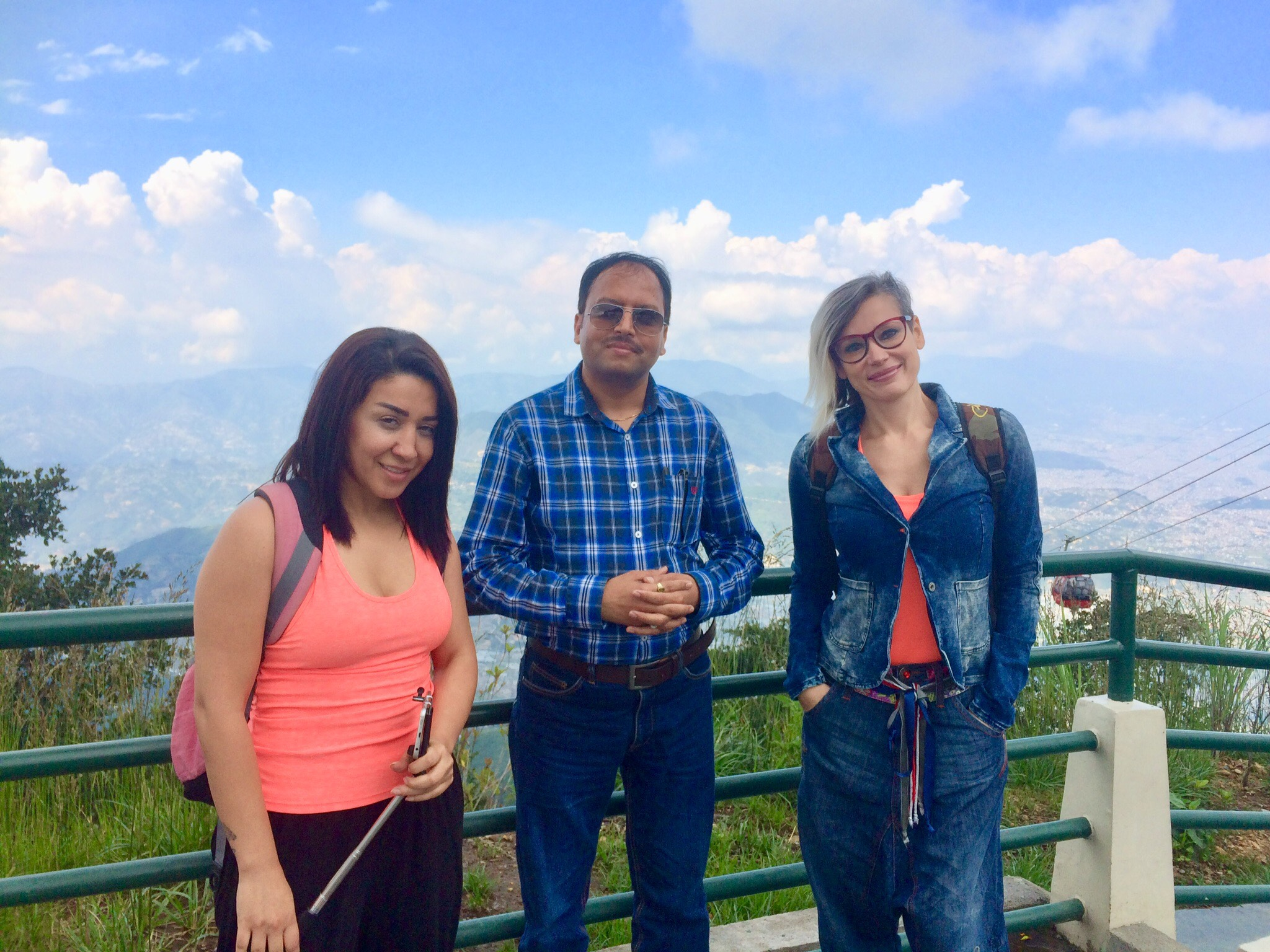 Chandragiri view with Guru and Student