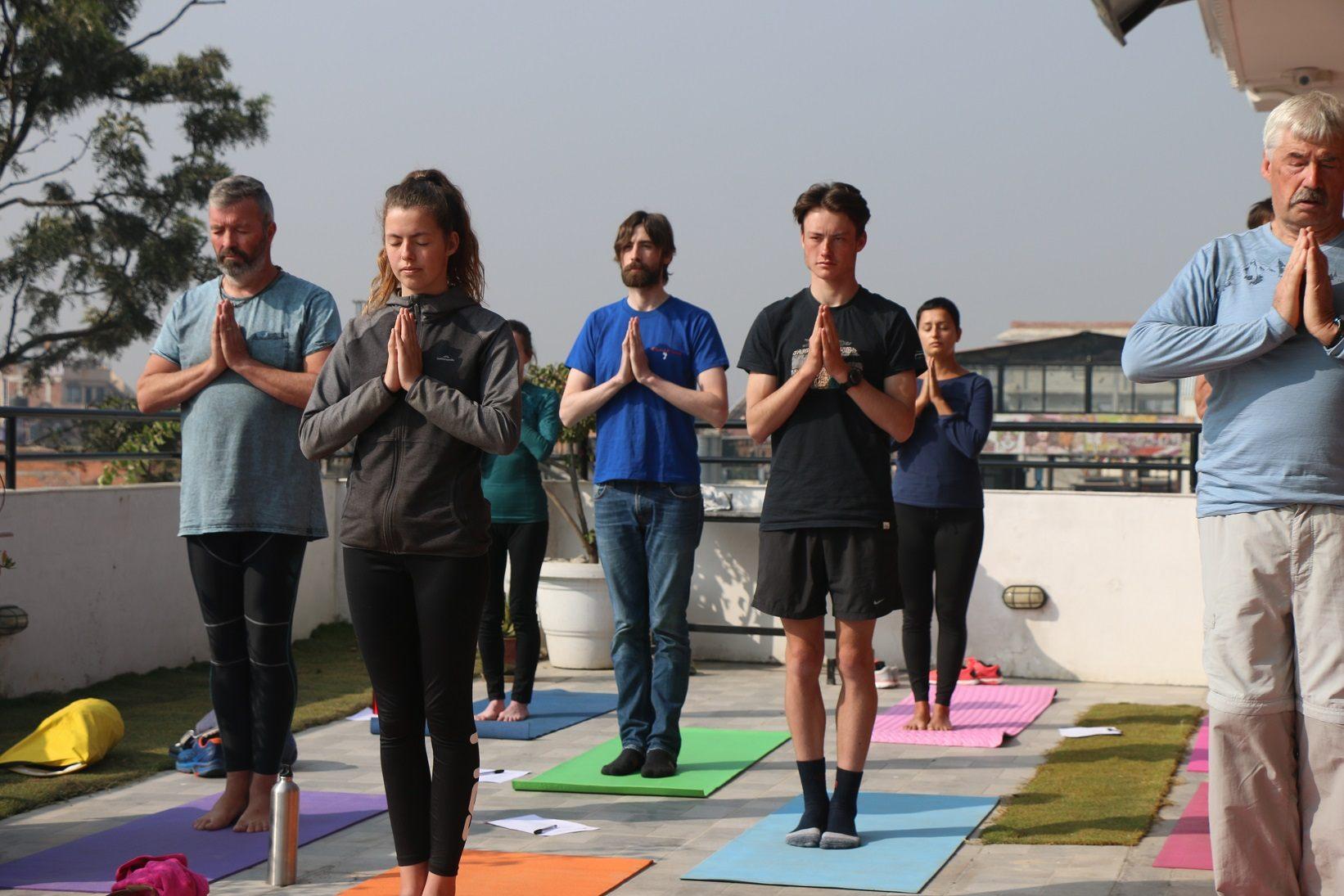 Yoga Standing Namaste Meditation Pose