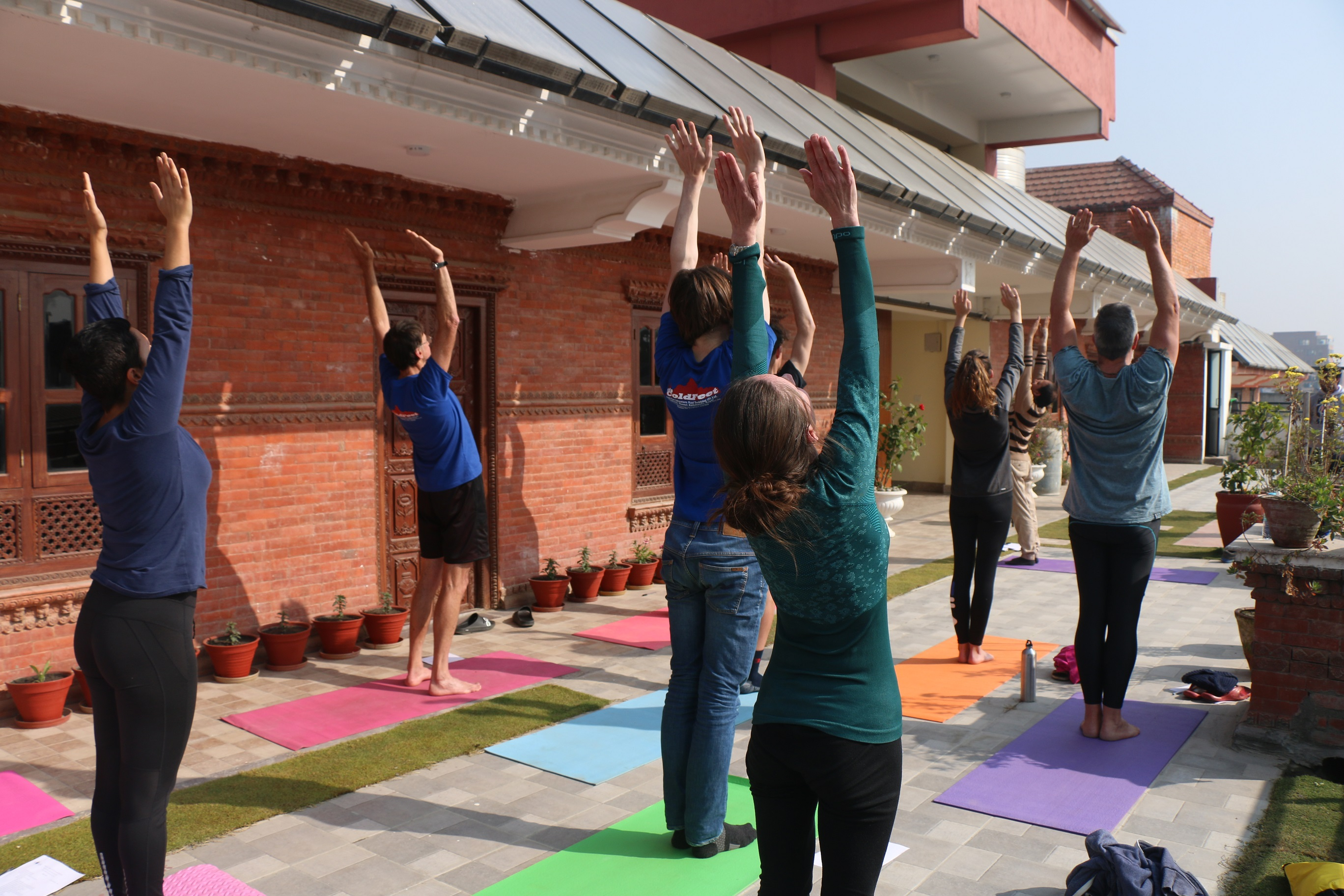 Yoga teacher class performance